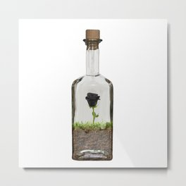 Bottled Rose Metal Print