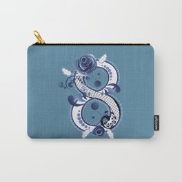 Eight with blue floral Carry-All Pouch