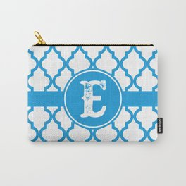 Blue Monogram: Letter E Carry-All Pouch
