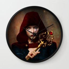 Key of wisdom Wall Clock
