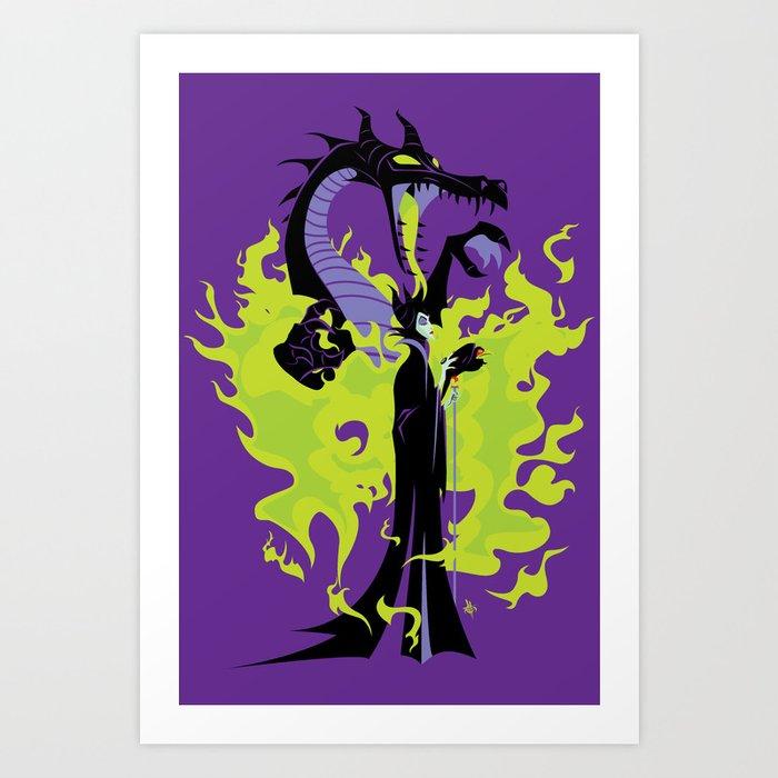 Maleficent Mistress Of All Evil Art Print By Elblackbat