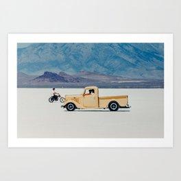 Driver's Way Art Print