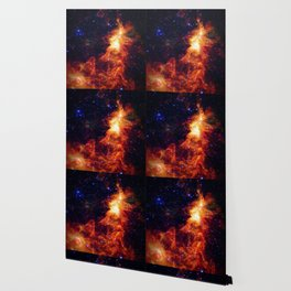 Fiery gAlAXy Indigo Stars Wallpaper