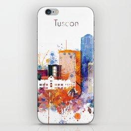 Watercolor Tucson watercolor skyline iPhone Skin