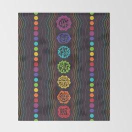 Rainbow Chakras Throw Blanket