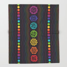 Rainbow Chakras Throw Blanket