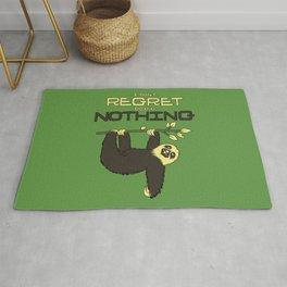 I Don't Regret Doing Nothing Lazy Sloth Rug