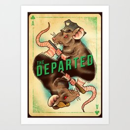 The Departed - Movie Poster Art Print