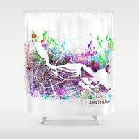 amsterdam Shower Curtains featuring Amsterdam by Nicksman
