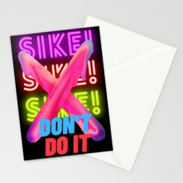 Triple Sike don't do it Stationery Cards