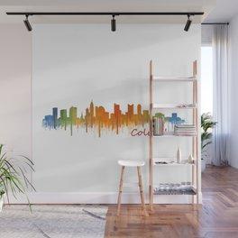 Columbus Ohio, City Skyline, watercolor  Cityscape Hq v2 Wall Mural