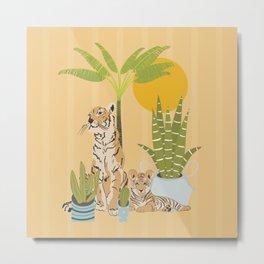My Urban Jungle Pet Tigers Metal Print