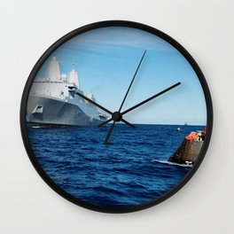 NASAs Orion spacecraft floats in the Pacific Ocean after splashdown from its first flight test in Ea Wall Clock