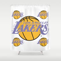 lakers Shower Curtains featuring Lakers by Dexter Gornez