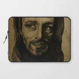 Underworld film. Coal portrait of lycan Lucian. actor Michael Sheen. Портрет углем ликана Люциана Laptop Sleeve