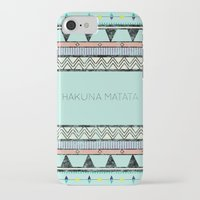 hakuna iPhone & iPod Cases featuring Hakuna Matata by Lala Vicencio