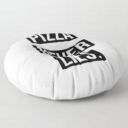 PIZZA NEVER LIES Floor Pillow