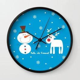 Snow men Wall Clock
