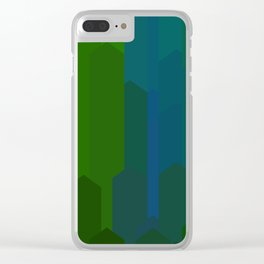 cubescape_waterfall Clear iPhone Case
