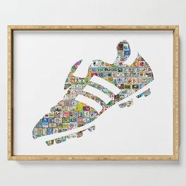 Philately Copa Mundial Soccer Cleats Serving Tray
