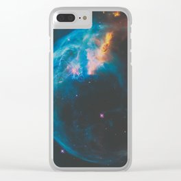 Bubble Nebula Space Clear iPhone Case