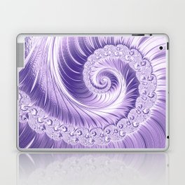 Ultra Violet Luxe Spiral Pattern   Trendy Color of the Year 2018 Laptop & iPad Skin