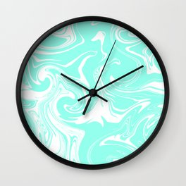 Marble pattern light blue Wall Clock