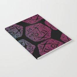 d20 dice pattern - darker gradient pastel - icosahedron Notebook