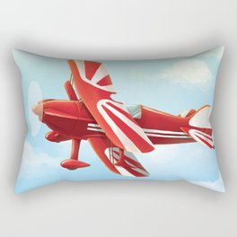 Vintage Airplane Artwork Rectangular Pillow