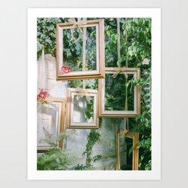 hanging frames Art Print