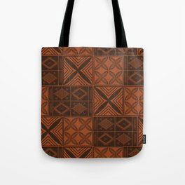 UrbanNesian Brown Malu Design Tote Bag