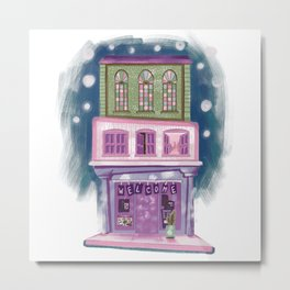 Cute colorful shop Metal Print