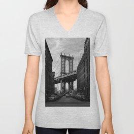 Manhattan Bridge view from Dumbo Unisex V-Neck