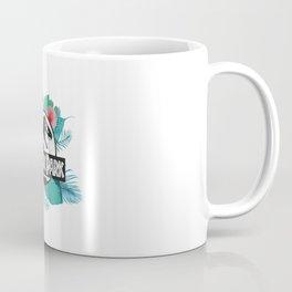 Jurassic Park logo with tropical flowers Coffee Mug