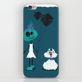 Extraterrestrial girl and her pet iPhone Skin
