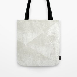 Beige / Light Warm Gray and White Geometric Ink Texture Tote Bag