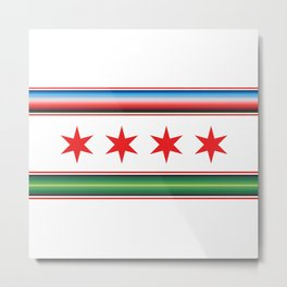 Chicago Mexican Flag Metal Print