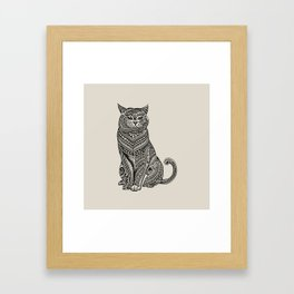 Polynesian British Shorthair cat Framed Art Print