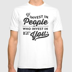 invest in people who invest in you Mens Fitted Tee MEDIUM White