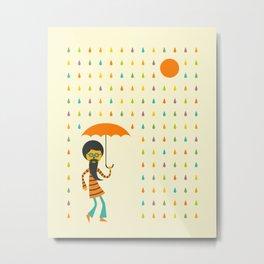 PSYCHEDELIC RAIN Metal Print