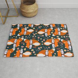 Hipster foxes Rug
