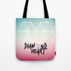 Diamond Heart Tote Bag