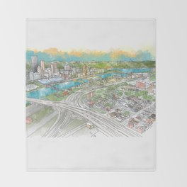 Pittsburgh Aerial Throw Blanket