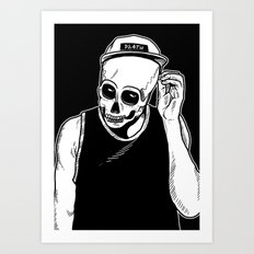 dead cozy boy Art Print