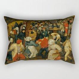 """Pieter Bruegel (also Brueghel or Breughel) the Elder """"The Outdoor Wedding Feast"""" Rectangular Pillow"""