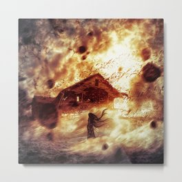 And Now... Kiss The Burning Darkness Metal Print