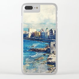 Trapani art 19 Sicily Clear iPhone Case
