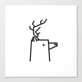 Minimalist Deer Canvas Print