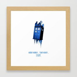Doctor Who Tardis Poster Framed Art Print