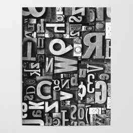 Metal Madness - Typography Photography™ Poster